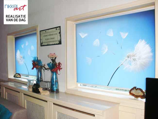 Fotorolgordijnen op maat van nikkel art.nl