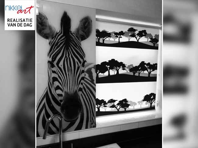 Rolgordijn met foto Zebra