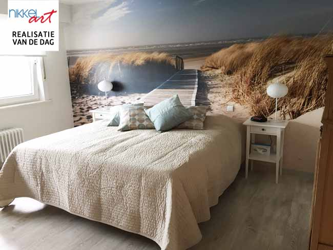 fotobehang strand in slaapkamer