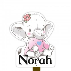 Geboortebord tuin meisje | Olifant