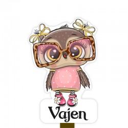 Geboortebord tuin meisje | Uil met bril