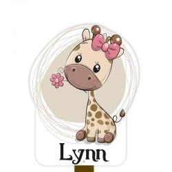 Geboortebord tuin meisje | Giraf met strik