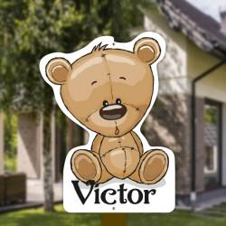 Geboortebord tuin jongen   Teddybeer