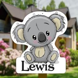 Geboortebord tuin jongen   Koala