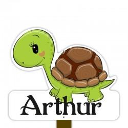 Geboortebord tuin jongen | Schildpad