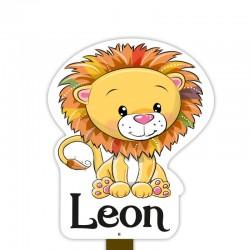 Geboortebord tuin jongen   Leeuw