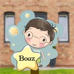 Geboortebord tuin jongen | Jongetje met ster