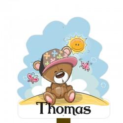 Geboortebord tuin jongen   Teddybeer in het zonnetje