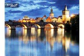Praag brug bij nacht
