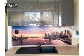 Keuken foto achterwand versus glazen spatwand keuken