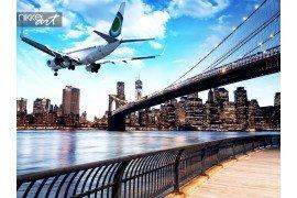 Vliegtuigen overvliegen New York City