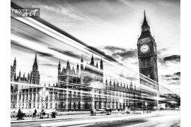 Londen Big Ben en verkeer