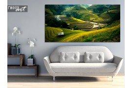 Een prachtig natuurbeeld in huis: een foto op aluminium landschap
