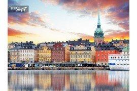 Stockholm panorama van de oude stad