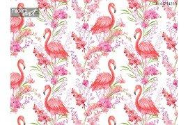 De naadloze patroon tropische vogels met roze flamingo s