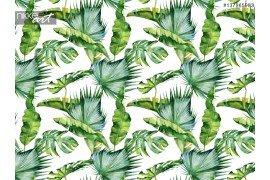 Naadloze achtergrond tropische planten