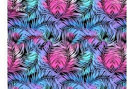 Tropische palmen naadloze patroon in kleuren