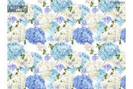 Hidrangea blauwe patroon