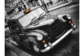 Mooie retro zwarte auto
