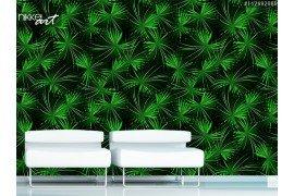 Tropische palm van de kool in een naadloze patroon
