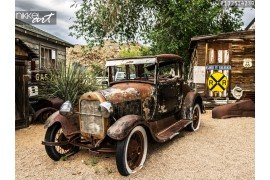 Route 66 Hackberry oldtimer auto