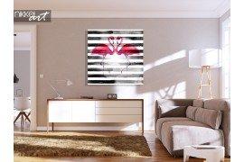 Flamingo schilderij op plexiglas