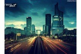Fotorolgordijnen Nacht snelweg