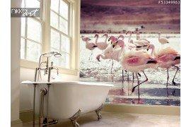 Foto op Plexiglas Flamingo