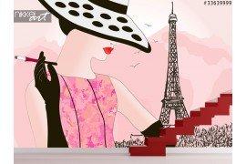 Fotobehang Geschilderd Parijs