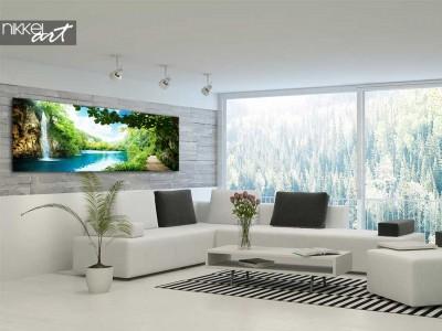 Watervallen gedrukt op canvas