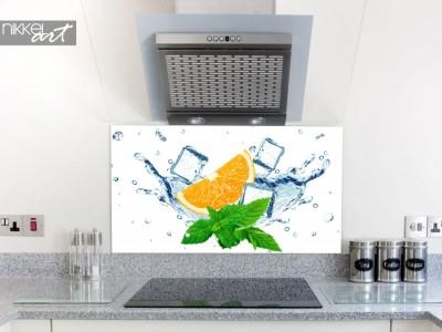Glazen keuken spatwand met print - in het ice
