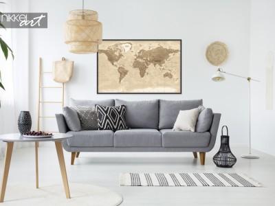 Posters met Wereldkaart, voor de echte wereldreiziger!