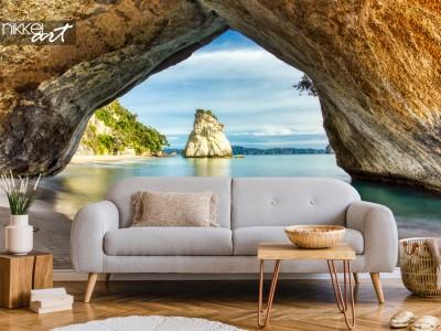 Fotobehang Cathedral Cove: De mooiste baai op aarde
