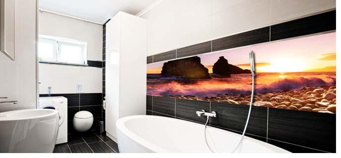 Badkamer foto achterwand