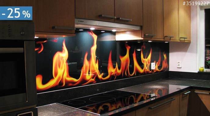Glad Keuken Achterwand : Koop nu keuken foto achterwand met korting nikkel art