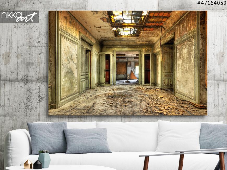 Wanddecoratie Met Fotos.Mysterieuze Wanddecoratie Een Foto Op Plexiglas Oude Verlaten Gebouwen