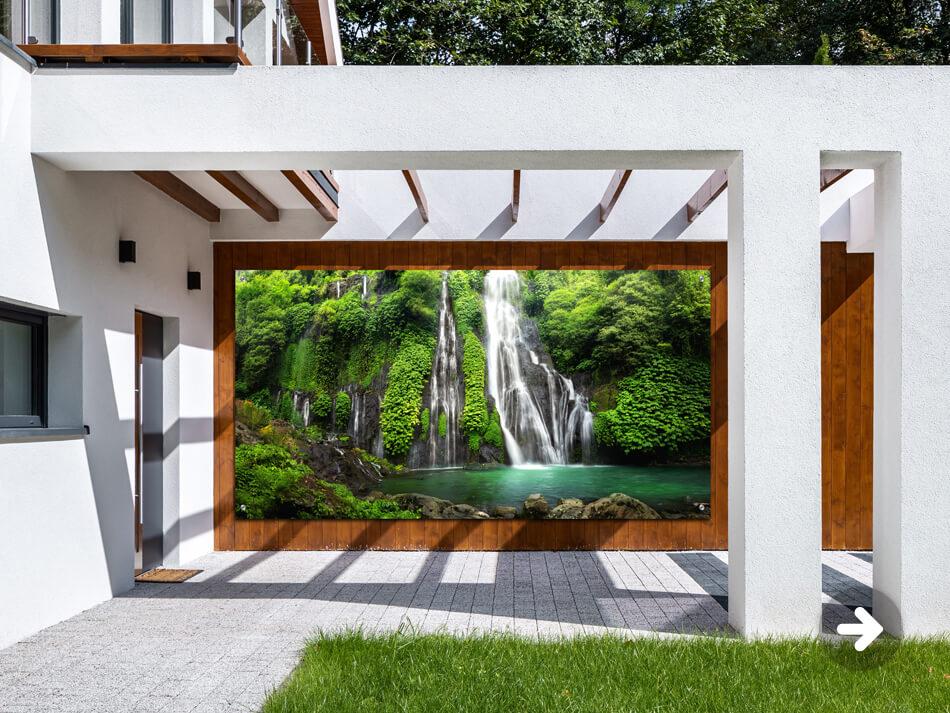 Tuinposter Watervallen