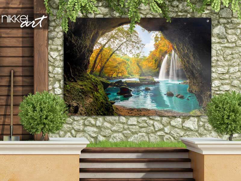 Tuinposter Heo Suwat Waterval