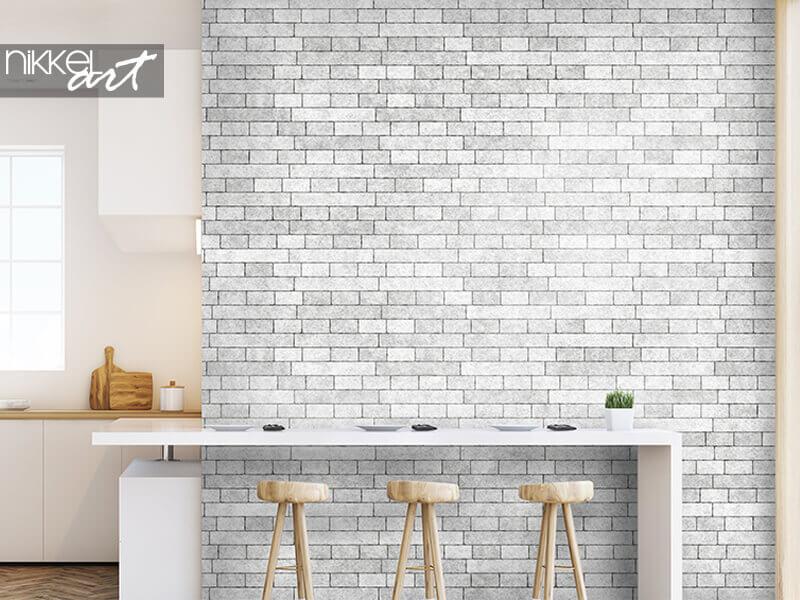 Behang bakstenen muur textuur