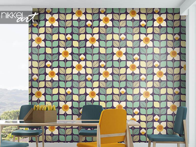Behang naadloze geometrische retro patroon