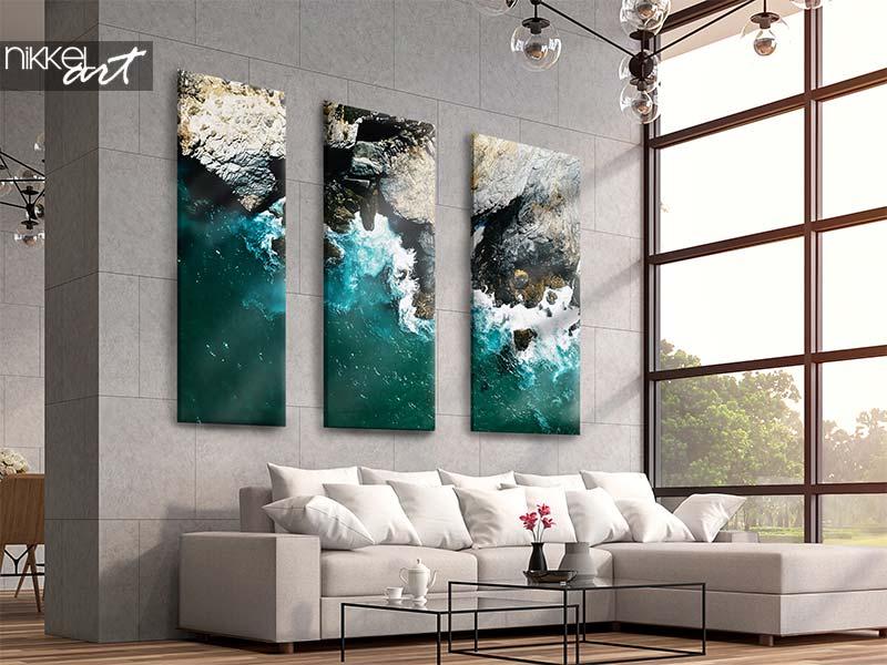 Foto op canvas Dramatische oceaangolven