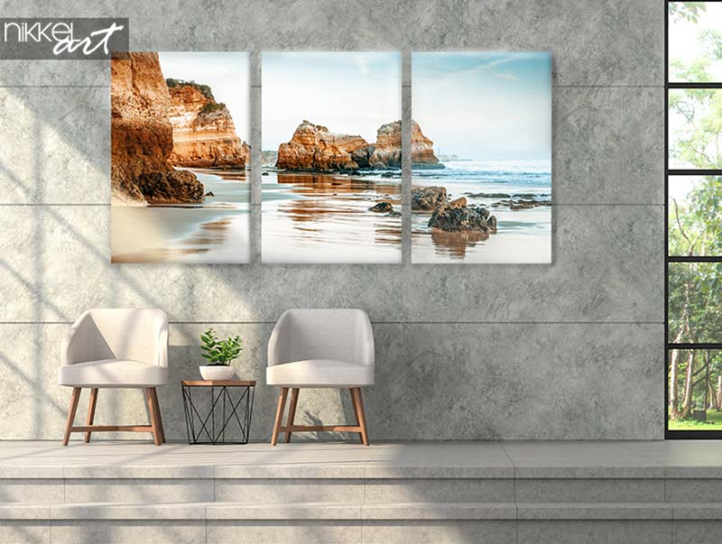 Foto op canvas strand