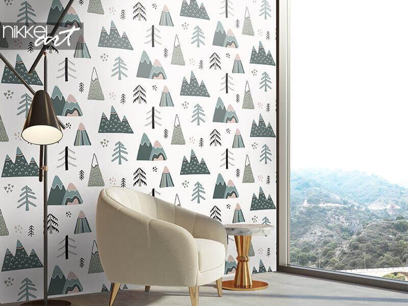 Behang naadloos patroon in scandinavische stijl