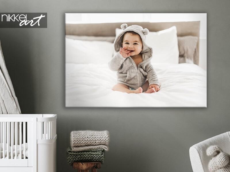Print je baby- of zwangerschapsfoto's op canvas