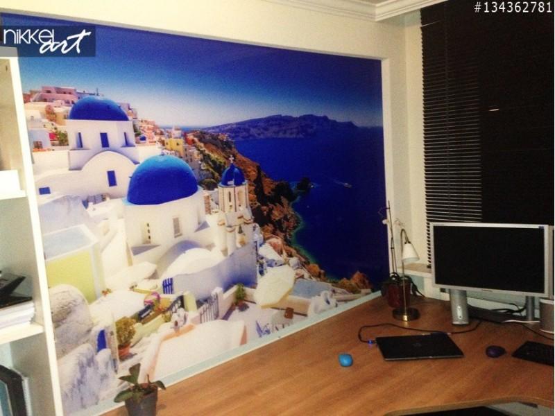 Foto op plexiglas groot formaat Santorini