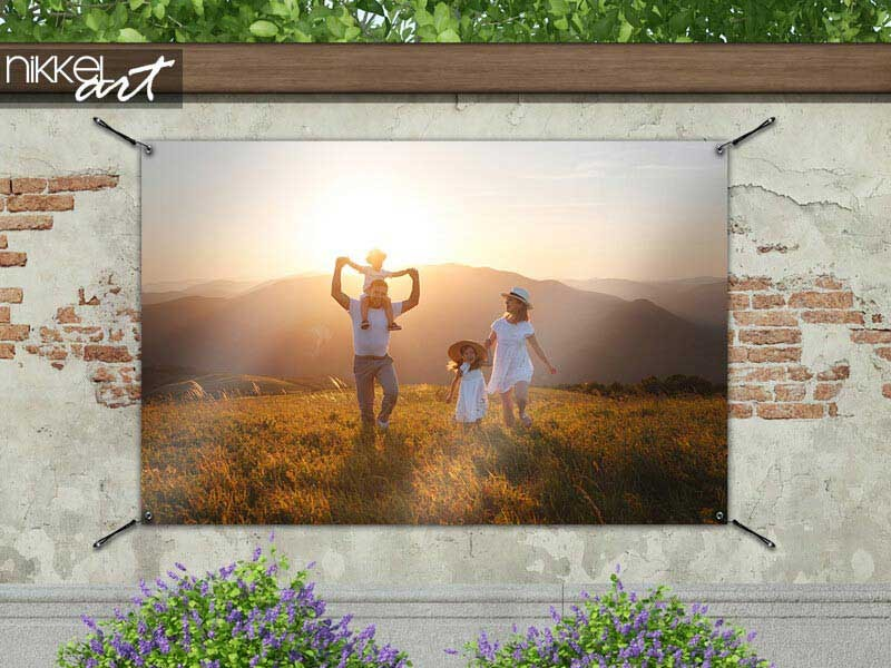 Print je eigen foto als tuinposter
