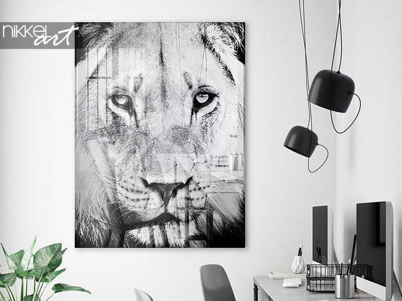 Exclusieve kunst: een zwart-wit foto op plexiglas