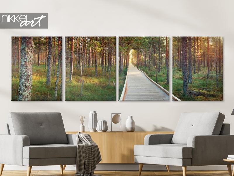 Canvas panorama foto's op maat van jouw interieur
