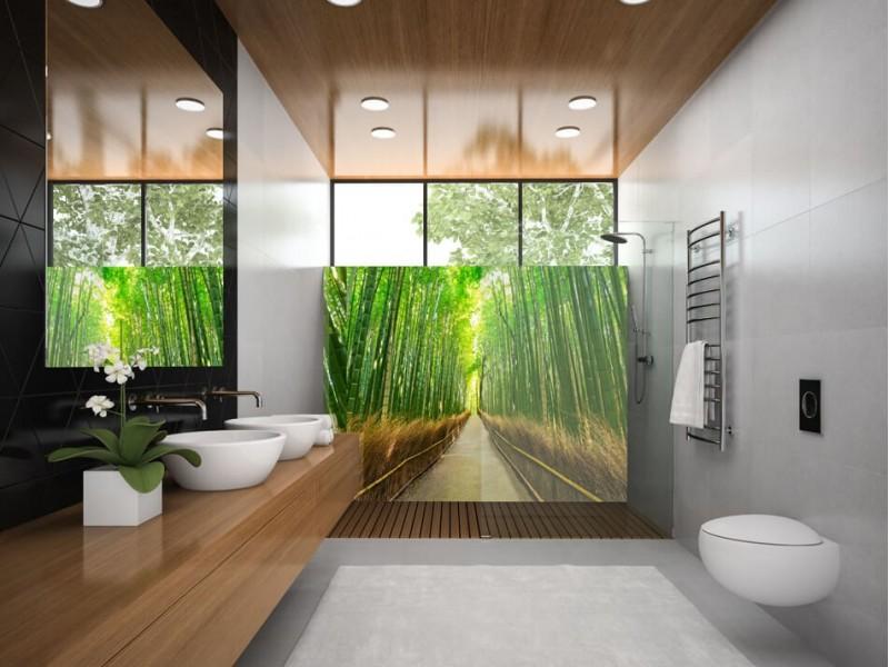 Spring in het diepe met betoverende badkamer achterwanden