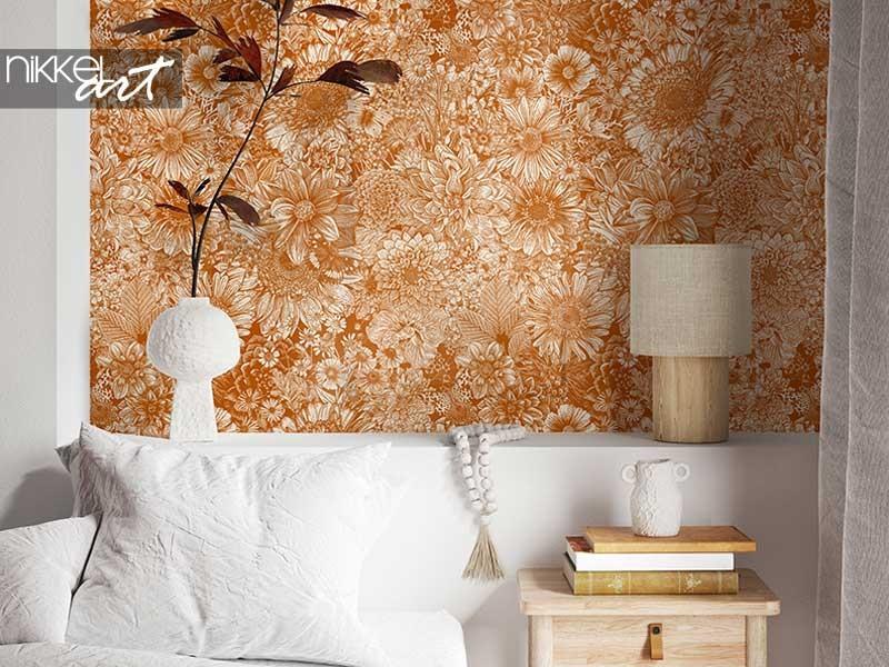 Woontrend: bloemetjes behang